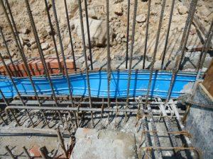 thi công bất động sản với tấm cản nước pvc